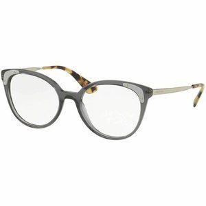 Prada Cat Eye Eyeglasses Grey W/Demo Lens